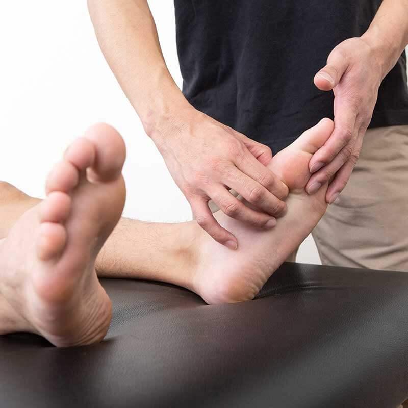 足の裏のマッサージ